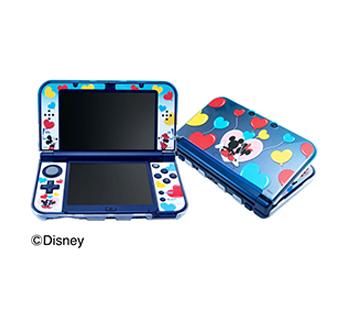 Newニンテンドー 3DS LL専用<br>コーディネートセット<br>ハートバルーン(ミッキー&ミニー)