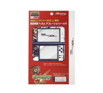 Newニンテンドー3DS LL専用<br>液晶保護フィルム デコレーションシール付<br>カグツチ