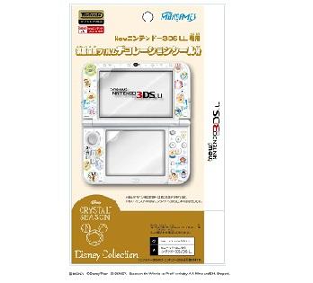Newニンテンドー3DS LL専用<br>液晶保護フィルム デコレーションシール付<br>クリスタル・シーズン
