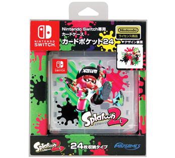 Nintendo Switch専用<br>カードポケット24 スプラトゥーン2