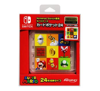 Nintendo Switch専用<br>カードポケット24 スーパーマリオ