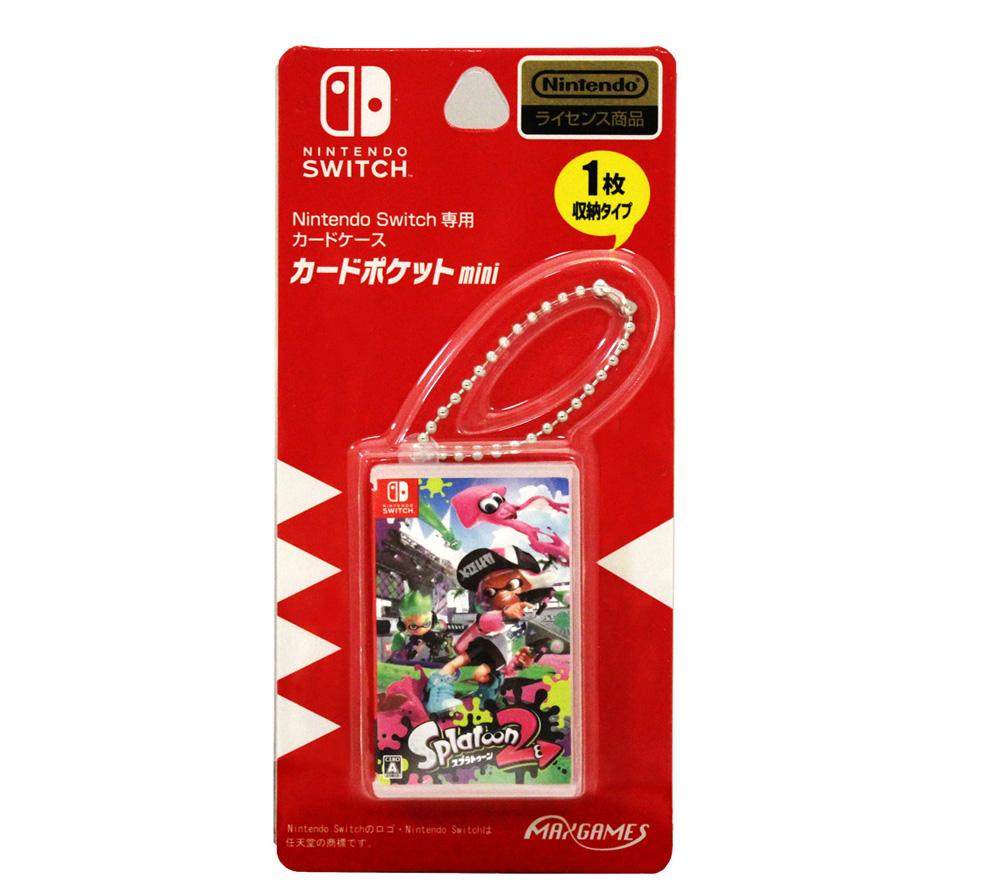 Nintendo Switch専用カードケース<br>カードポケットmini スプラトゥーン2