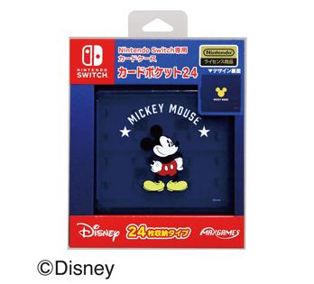 Nintendo Switch専用カードポケット24<BR>ミッキーマウス