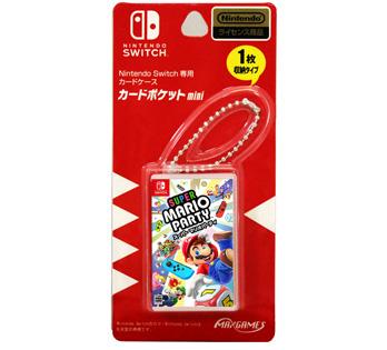 Nintendo Switch専用カードケース<BR>カードポケットmini スーパーマリオパーティ