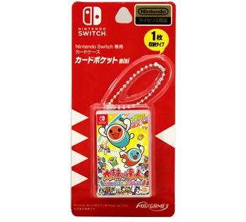 Nintendo Switch専用カードケース<BR>カードポケットmini 太鼓の達人Nintendo Switchばーじょん