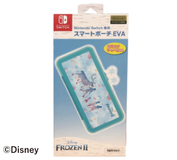 Nintendo Switch専用<br>スマートポーチEVA<br>『アナと雪の女王2』シルエット柄