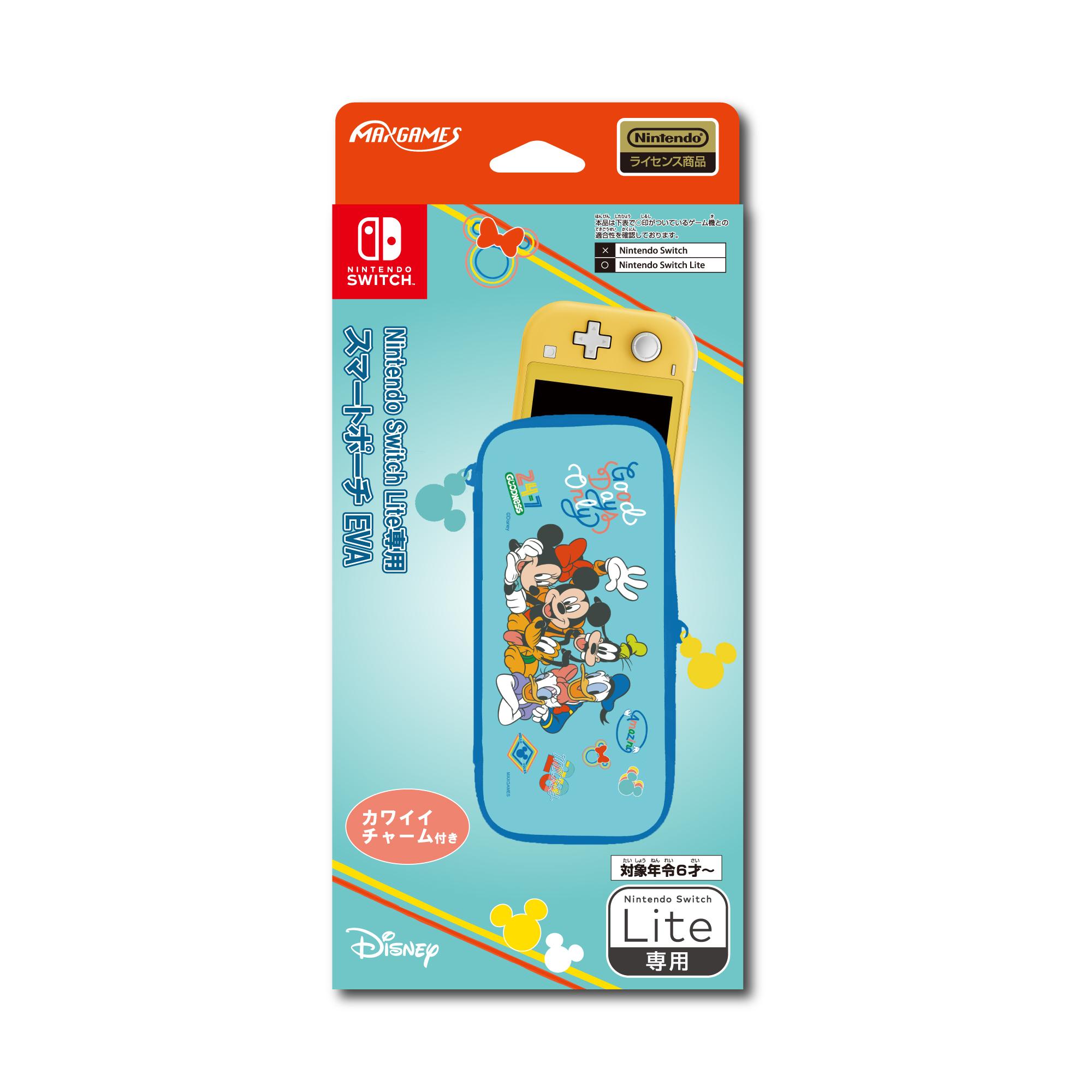 Nintendo Switch Lite専用<br>スマートポーチEVA<br>ミッキー&フレンズ(ミント)