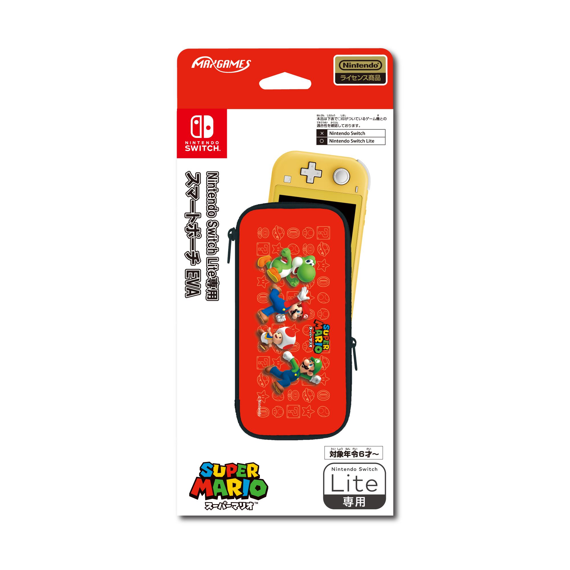Nintendo Switch Lite専用<br>スマートポーチEVA<br>スーパーマリオ