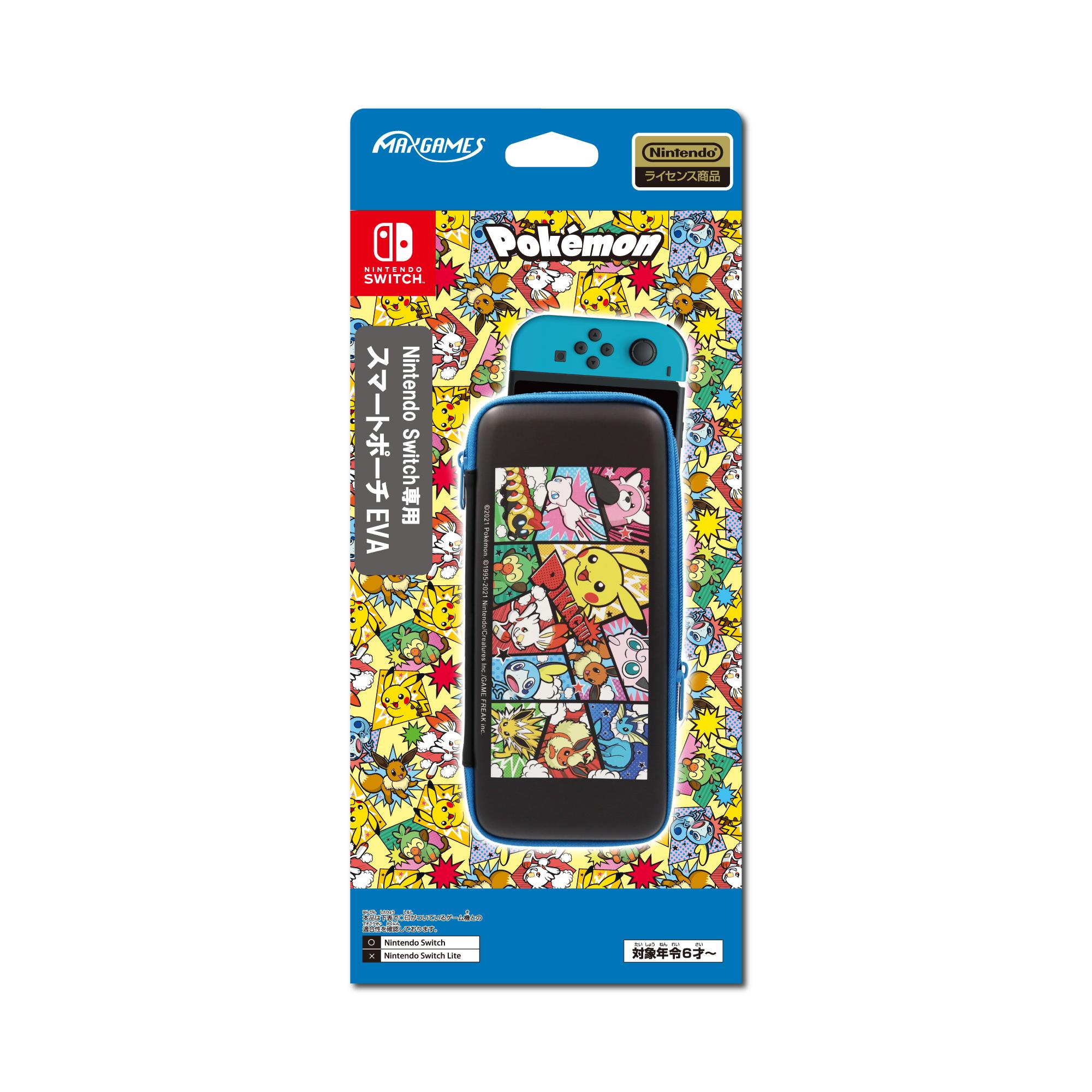 Nintendo Switch専用<br>スマートポーチEVA<br>ポケットモンスター コミック